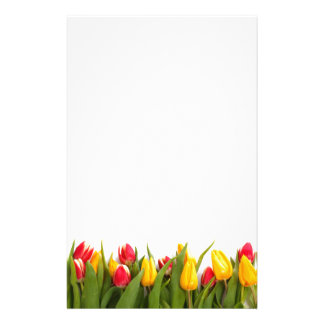 Spring Tulip Garden Stationary Personalized Stationery