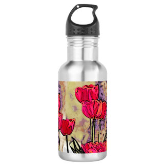 Spring Tulips 532 Ml Water Bottle