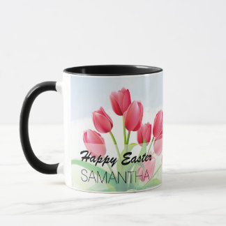Spring Tulips and Easter Eggs Mug