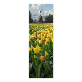 Spring Tulips and Windmill Pack Of Skinny Business Cards