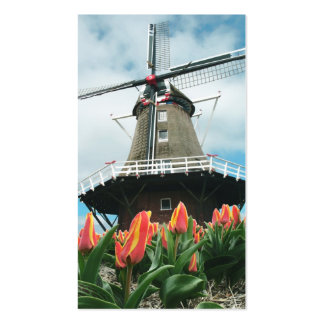Spring Tulips Dutch Windmill Pack Of Standard Business Cards