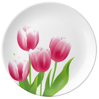 Spring Tulips. Easter Gift Decorative Plates