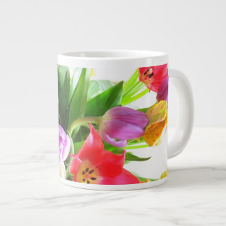 Spring Tulips Flowers Large Coffee Mug