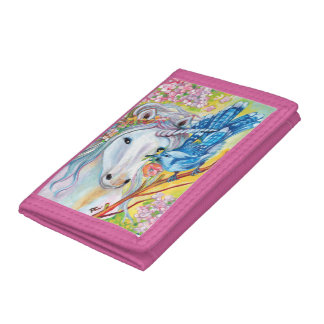 Spring Unicorn and Jay Trifold Wallet