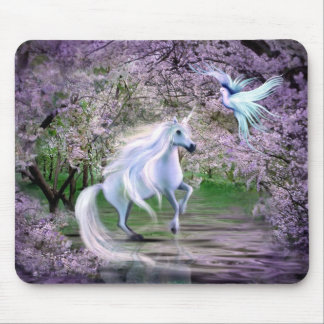 Spring Unicorn fantasy Mouse Pad