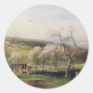 Spring View Village Classic Round Sticker
