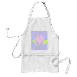 Spring – violet pink green floral pattern standard apron