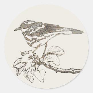Spring Warbler Round Sticker