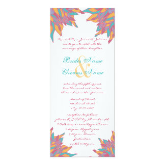 Spring Wedding Colors Floral Invite