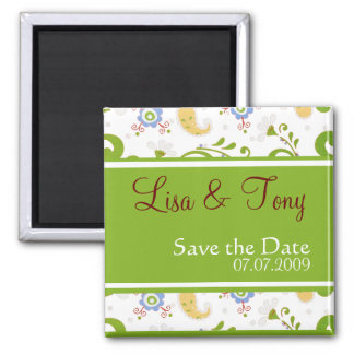 Spring Wedding - Customized Square Magnet