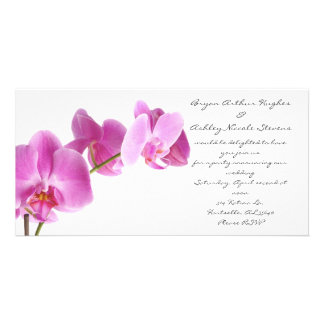 spring wedding photo card template