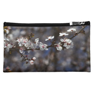 Spring White Flowers Medium Cosmetic Bag