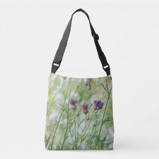 Spring wild flowers crossbody bag