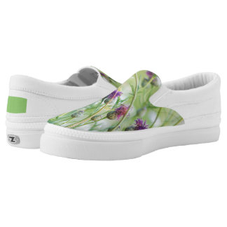 Spring wild flowers printed shoes