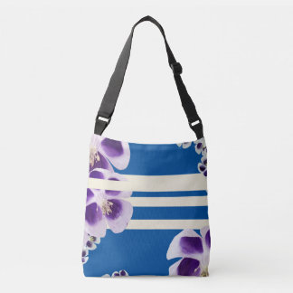 Spring will sing Floral, blue Geometrical Body Bag