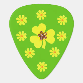 Spring yellow clover and flowers plectrum