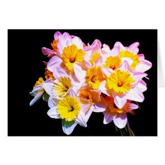 Spring Yellow Daffodil Greetings Card