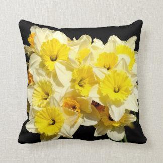 Spring Yellow Daffodil Throw Cushion