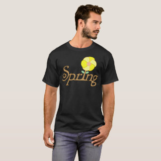 Spring Yellow Flower Typography T-Shirt
