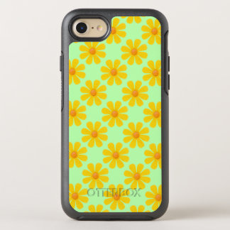 Spring yellow flowers, light green background OtterBox symmetry iPhone 7 case