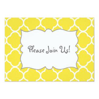 Spring Yellow Quatrefoil Invitation