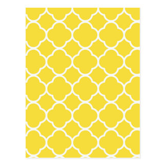 Spring Yellow Quatrefoil Postcard