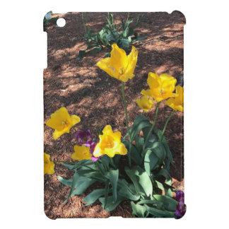 Spring yellow tulip type flowers iPad mini covers
