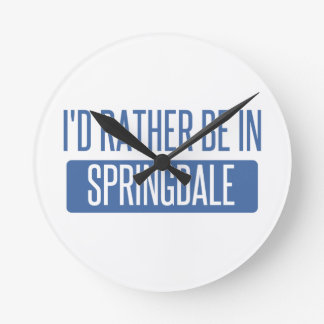 Springdale Round Clock