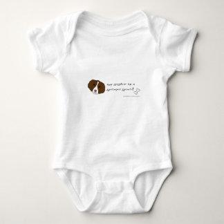 springer spaniel baby bodysuit