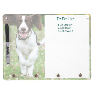 Springer Spaniel Dry Erase (featuring Ringo!) Dry Erase Board With Key Ring Holder