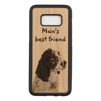 Springer Spaniel Pet Portrait Painting Carved Samsung Galaxy S8 Case