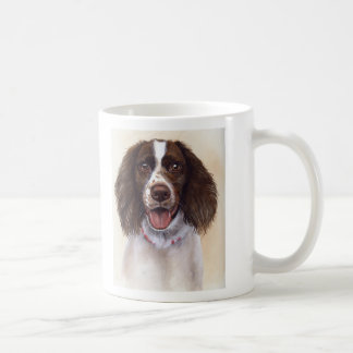 Springer Spaniels on mug with breed info text