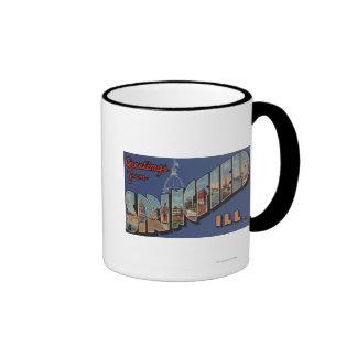 Springfield, Illinois - Large Letter Scenes Coffee Mugs