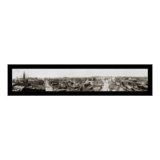 Springfield MA Panview Photo 1913 Poster