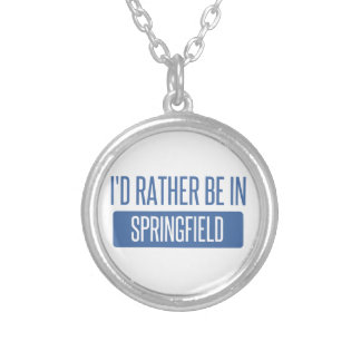 Springfield MA Silver Plated Necklace
