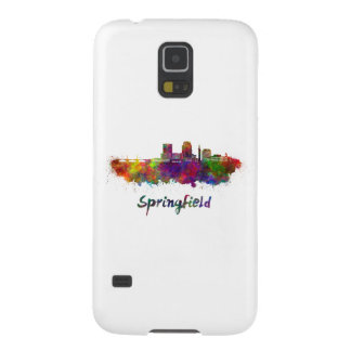 Springfield MA skyline in watercolor Galaxy S5 Cases