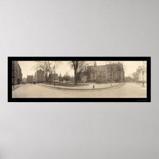 Springfield MA Square Photo 1909 Poster