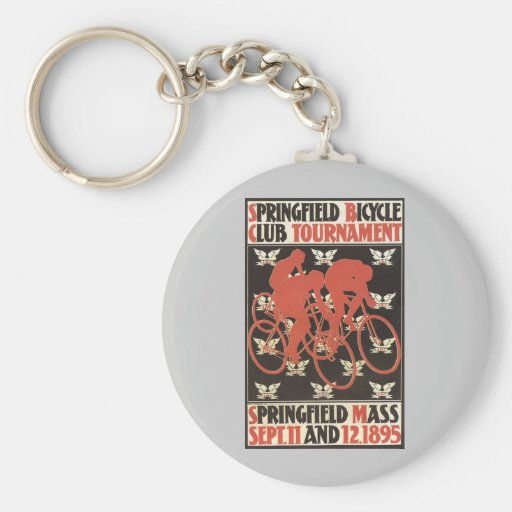 Springfield Mass. 1895 Bicycle Tournament Keychains