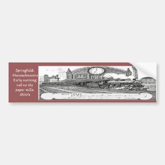 """Springfield, Mass- Early morning rail"" Bumper Sticker"