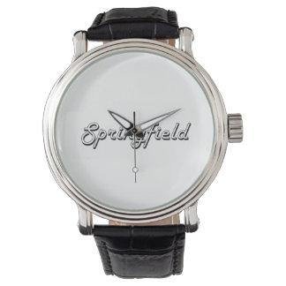 Springfield Massachusetts Classic Retro Design Wristwatch