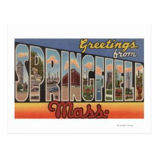 Springfield, Massachusetts - Large Letter Postcard