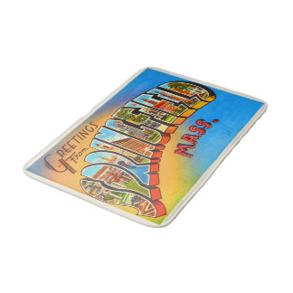 Springfield Massachusetts MA Old Travel Souvenir Bath Mats