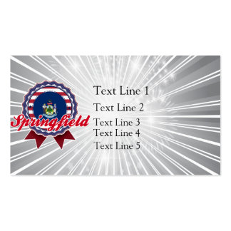 Springfield, ME Business Card Template