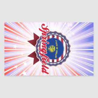 Springfield, OR Rectangular Stickers