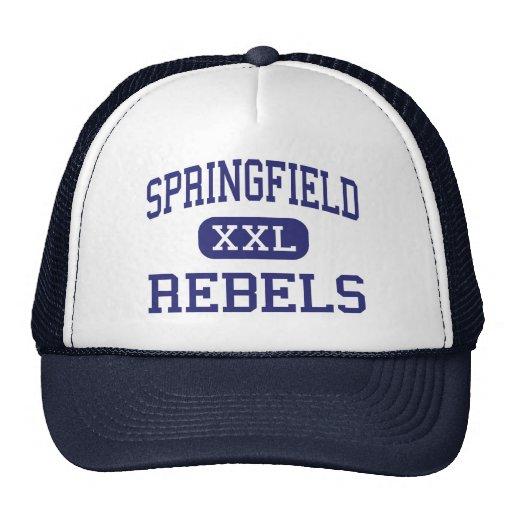 Springfield Rebels Middle Springfield Oregon Mesh Hats
