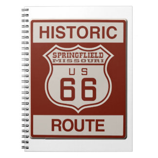 Springfield Route 66 Spiral Notebook