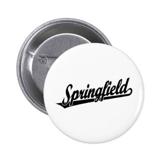 Springfield script logo in black pins