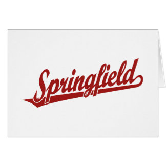 Springfield script logo in red greeting cards