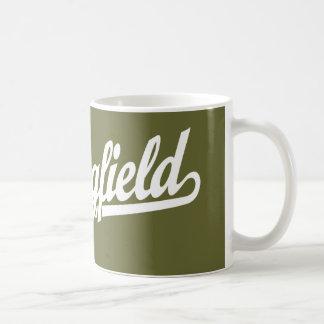 Springfield script logo in white basic white mug