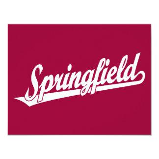 Springfield script logo in white personalized invitations